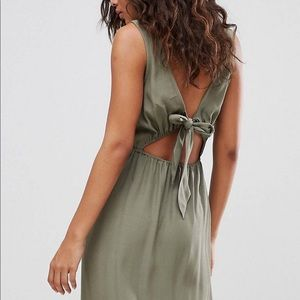 Bow Back Maxi Dress with Slit on Sides